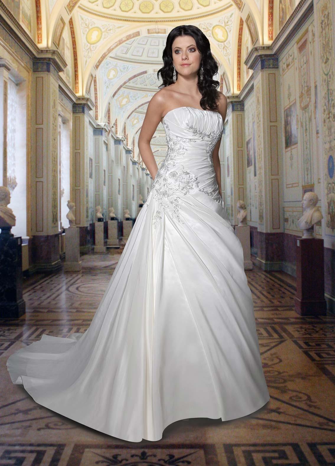 Wedding dress gcmweddings satin strapless wedding dress ombrellifo Images